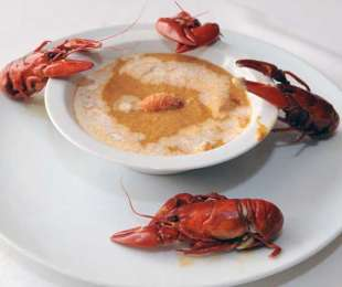 Crema de cangrejos de río